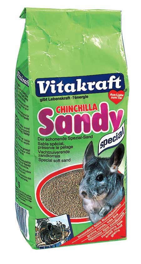 Песок для шиншилл Vitakraft Chinchilla Sandy, 1 кг15524Специальный песок для шиншилл Vitakraft Chinchilla Sandy сохраняет вашему любимцу легкую и чистую шерсть. Песок состоит из мелкого, специально обработанного песка. Применение: песок насыпается в специальный ящик (слой 3-5 см) и дается животному на 30 минут один раз в день, после чего убирается, песок подлежит полной замене после недели использования. Состав: песок, без искусственных красителей и консервантов. Товар сертифицирован.