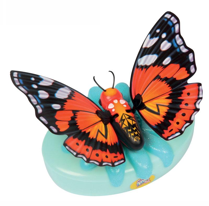 Moose Интерактивная игрушка Little live Pets: Бабочка Краеглазкаkraeglazka/ast28002Интерактивная игрушка Moose Little Live Pets: Бабочка Краеглазка несомненно понравится вашей малышке. Она выполнена из качественных материалов в виде прелестной бабочки, которая выглядит совсем как настоящая. В руках ребенка она сразу оживет! Бабочка умеет махать крылышками - играя с ней, ребенок услышит звуки хлопающих крыльев. Благодаря специальной присоске бабочка может сидеть не только на руке, но и на окне или любой гладкой поверхности. Игрушка подзаряжается с помощью яркого аккумулятора, оформленного блестящим цветком. В комплект также входят присоска и аккумулятор. Ваш ребенок будет в восторге от такого подарка! Необходимо докупить 2 батарейки напряжением 1,5V типа АА (не входят в комплект).