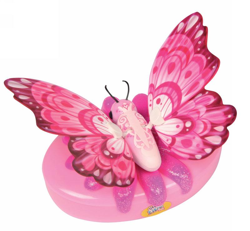 Moose Интерактивная игрушка Little live Pets: Бабочка Перламутровкаperlamutrovay/ast28002Интерактивная игрушка Moose Little Live Pets: Бабочка Перламутровка несомненно понравится вашей малышке. Она выполнена из качественных материалов в виде прелестной бабочки, которая выглядит совсем как настоящая. В руках ребенка она сразу оживет! Бабочка умеет махать крылышками - играя с ней, ребенок услышит звуки хлопающих крыльев. Благодаря специальной присоске бабочка может сидеть не только на руке, но и на окне или любой гладкой поверхности. Игрушка подзаряжается с помощью яркого аккумулятора, оформленного блестящим цветком. В комплект также входят присоска и аккумулятор. Ваш ребенок будет в восторге от такого подарка! Необходимо докупить 2 батарейки напряжением 1,5V типа АА (не входят в комплект).
