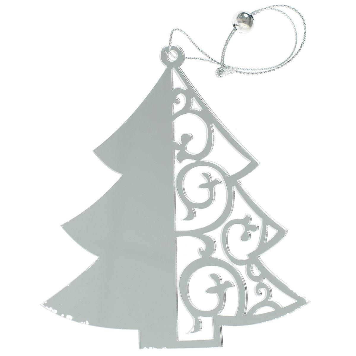 Новогоднее подвесное украшение Елка, цвет: серебристый. 7029970299Новогоднее украшение Елка отлично подойдет для декорации вашего дома и новогодней ели. Игрушка выполнена из пластика в виде узорной новогодней елочки. Украшение оснащено специальной текстильной петелькой для подвешивания. Елочная игрушка - символ Нового года. Она несет в себе волшебство и красоту праздника. Создайте в своем доме атмосферу веселья и радости, украшая всей семьей новогоднюю елку нарядными игрушками, которые будут из года в год накапливать теплоту воспоминаний.