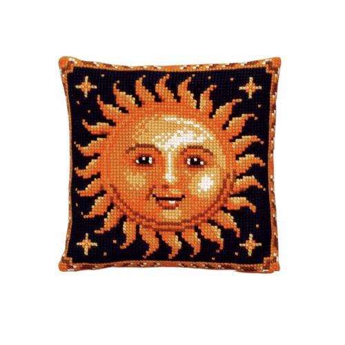 Набор для вышивания подушки Pako Солнце, 40 х 40 см7708503Красивый и стильный рисунок-вышивка, выполненный на страмине с нанесенным рисунком, станет прекрасной заготовкой для создания стильной декоративной подушки. Вышивка выполняется крестиком. Вышивание отвлечет вас от повседневных забот и превратится в увлекательное занятие! Работа, сделанная своими руками, создаст особый уют и атмосферу в доме и долгие годы будет радовать вас и ваших близких. В набор входит: - канва-страмин с нанесенным рисунком (100% хлопок), - пряжа (100% акрил), - игла, - подробная инструкция. Обратная сторона подушки и наполнитель в комплект не входят.