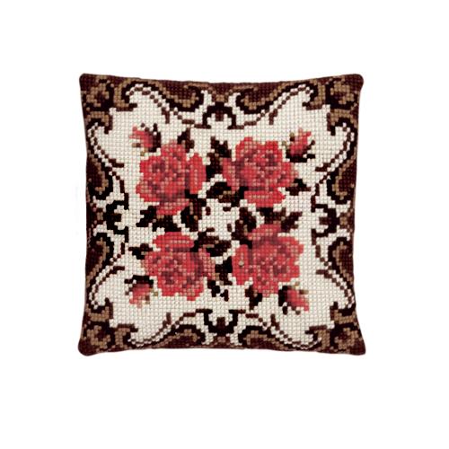 Набор для вышивания подушки Pako Орнамент с розами, 40 х 40 см7708519Красивый и стильный рисунок-вышивка, выполненный на страмине с нанесенным рисунком, станет прекрасной заготовкой для создания стильной декоративной подушки. Вышивка выполняется крестиком. Вышивание отвлечет вас от повседневных забот и превратится в увлекательное занятие! Работа, сделанная своими руками, создаст особый уют и атмосферу в доме и долгие годы будет радовать вас и ваших близких, а также станет прекрасным подарком. В набор входит: - канва-страмин с нанесенным рисунком (100% хлопок), - пряжа (100% акрил), - игла, - подробная инструкция. Обратная сторона подушки и наполнитель в комплект не входят.