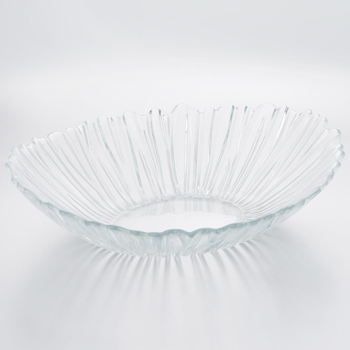 Салатник Pasabahce Аврора, 33 х 26 х 8,5 см10611BСалатник Pasabahce Аврора изготовлен из прочного закаленного натрий-кальций-силикатного стекла с повышенной термостойкостью. Изделие имеет овальную форму, стенки украшены изящным рельефом. Салатник прекрасно подходит для подачи салатов, закусок и других блюд, например, мяса. Салатник красиво оформит праздничный стол и удивит вас стильным дизайном. Можно мыть в посудомоечной машине и использовать в микроволновой печи.