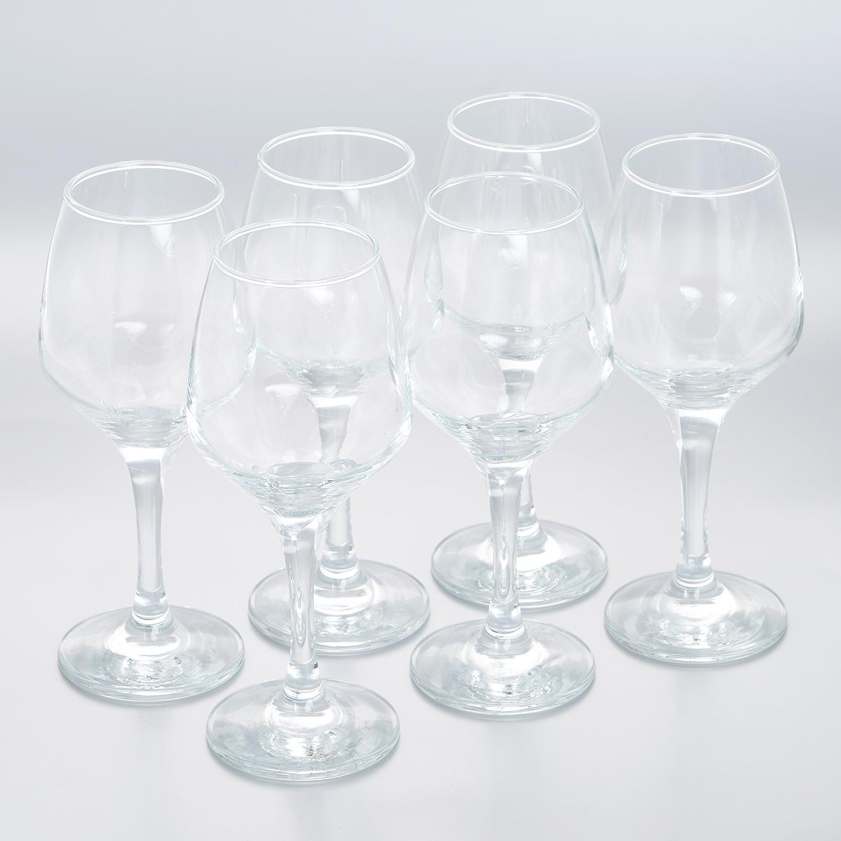 Набор бокалов Pasabahce Isabella, 385 мл, 6 шт440172BНабор Pasabahce Isabella состоит из шести бокалов, выполненных из прочного натрий-кальций-силикатного стекла. Бокалы излучают приятный блеск и издают мелодичный звон. Предназначены для красного и белого вина. Набор бокалов Pasabahce Isabella прекрасно оформит праздничный стол и создаст приятную атмосферу за романтическим ужином. Такой набор также станет хорошим подарком к любому случаю. Можно мыть в посудомоечной машине.