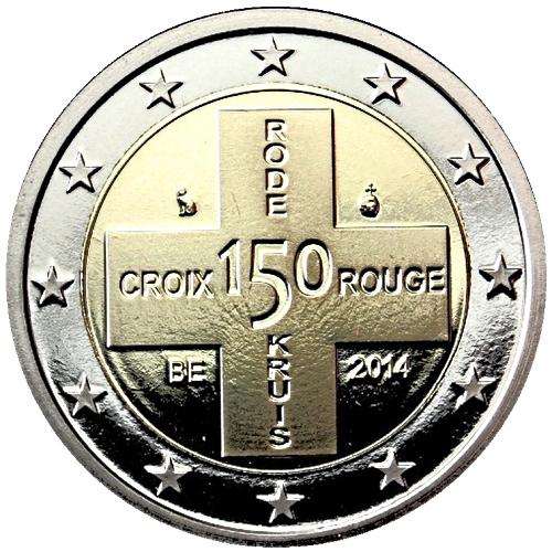 Монета номиналом 2 евро 150 лет Красному Кресту Бельгии. Бельгия, 2014 год656Монета номиналом 2 евро 150 лет Красному Кресту Бельгии. Бельгия, 2014 год Диаметр 2,5 см. Сохранность UNC (без обращения).