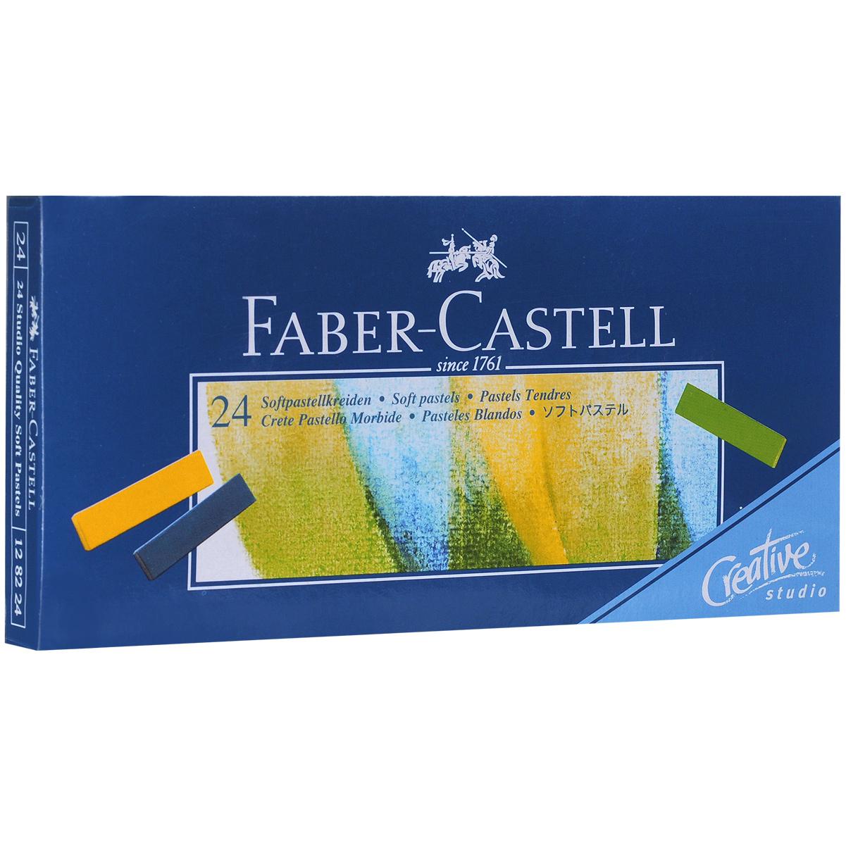 Мягкие мини-мелки Faber-Castell Studio Quality Soft Pastels, 24 шт128224Набор Faber-Castell Studio Quality Soft Pastels содержит мягкие мини-мелки квадратной формы 24 цветов. Мелки великолепного качества не крошатся при работе, обладают отличными кроющими свойствами, обеспечивают хорошее сцепление с поверхностью, яркость и долговечность изображения. Мягкими мелками Faber-Castell Studio Quality Soft Pastels можно рисовать в любой технике, сочетая их с цветными карандашами и красками.