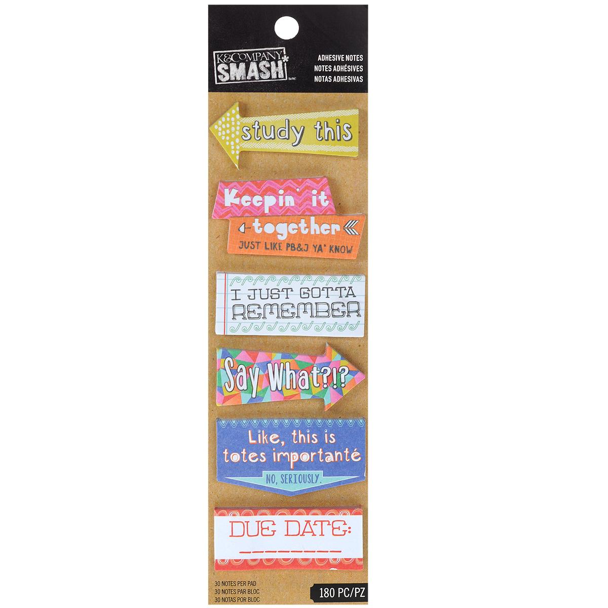 Стикеры-украшения K&Company Smash, 180 штKCO-30-685833Стикеры K&Company Smash, выполненные из бумаги, предназначены для декорирования в скрапбукинге, кардмейкинге, декупаже. Набор включает в себя 180 стикеров с надписями разного дизайна. Стикеры прекрасно дополнят ваши работы и придадут законченный вид изделиям. Скрапбукинг - это хобби, которое способно приносить массу приятных эмоций не только человеку, который этим занимается, но и его близким, друзьям, родным. Это невероятно увлекательное занятие, которое поможет вам сохранить наиболее памятные и яркие моменты вашей жизни, а также интересно оформить интерьер дома.