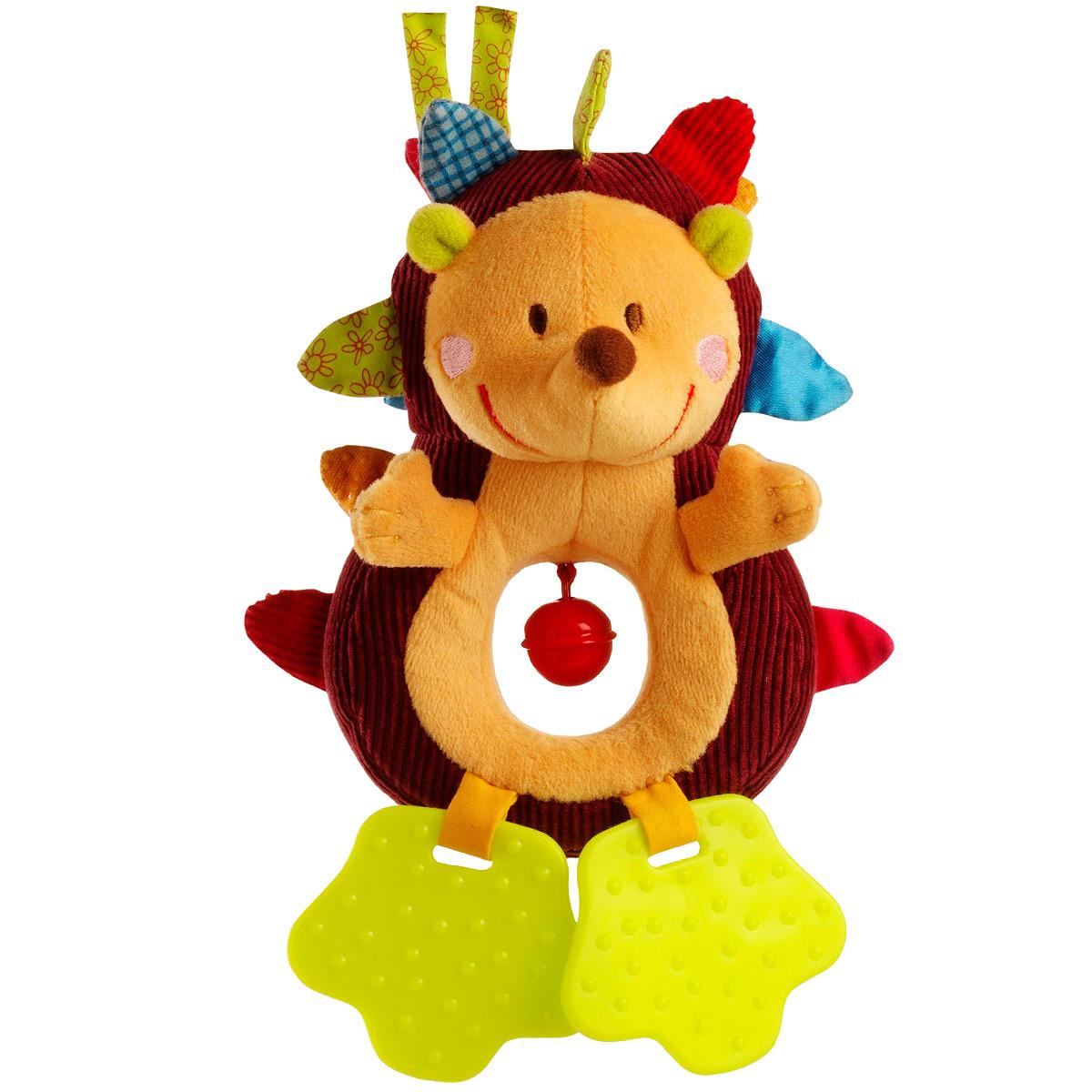 Развивающая игрушка-подвеска Lilliputiens Ежик Симон86114Развивающая игрушка-подвеска Lilliputiens Ежик Симон выполнена из хлопка разных фактур в виде милого ежика. Его мордашка вышита нитками, а в тельце имеется отверстие с подвешенным металлическим колокольчиком, мелодично звенящим при тряске. Колючки ежика яркие, различные на ощупь и совершенно безопасные для ребенка. Лапки игрушки представляют собой два прорезывателя, которые помогут малышу снять неприятные ощущения во время прорезывания зубов. С помощью двух завязок ежика можно подвесить к кроватке, коляске, автокреслу или игровой дуге малыша. Яркая игрушка-подвеска Lilliputiens Ежик Симон поможет ребенку в развитии цветового и звукового восприятия, концентрации внимания, мелкой моторики рук, координации движений и тактильных ощущений.