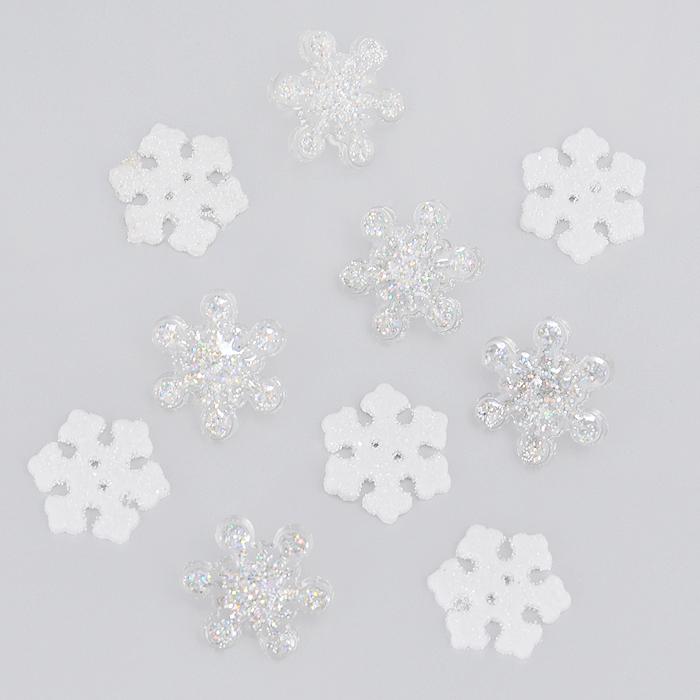 Пуговицы декоративные Dress It Up Мерцающие снежинки, 10 шт. 77040847704084Набор Dress It Up Мерцающие снежинки состоит из 10 декоративных пуговиц, выполненных из пластика в форме снежинок. Снежинки декорированы блестками. Такие пуговицы подходят для любых видов творчества: скрапбукинга, декорирования, шитья, изготовления кукол, а также для оформления одежды. С их помощью вы сможете украсить открытку, фотографию, альбом, подарок и другие предметы ручной работы. Пуговицы разных цветов имеют оригинальный и яркий дизайн.
