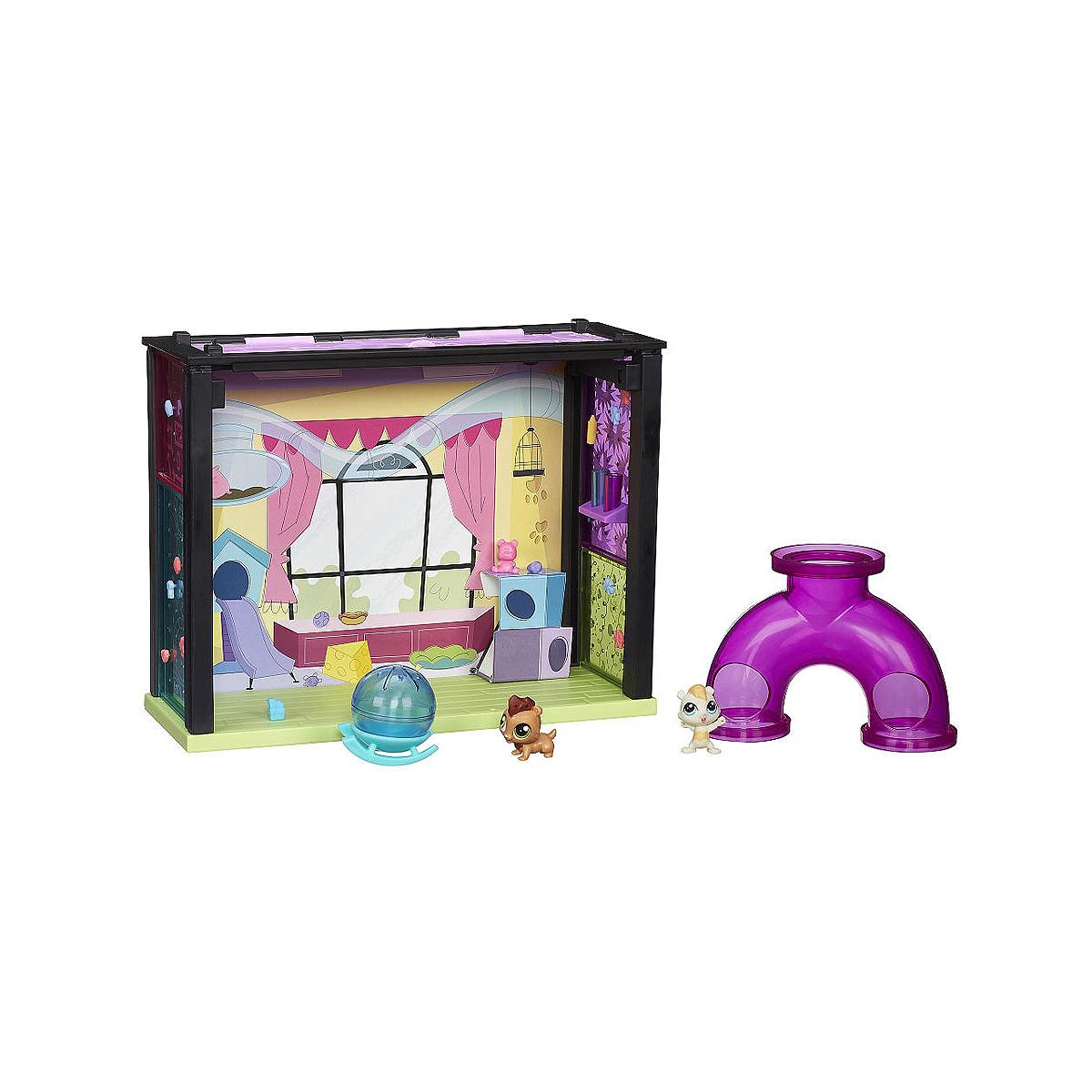 Littlest Pet Shop: Игровой мини-набор Fun RoomA7641/А8543Игровой мини-набор Littlest Pet Shop Fun Room не оставит равнодушной вашу малышку! В этой чудной комнате развелечений малыши Чомпер и Гамильтон найдут шарик-качалку, а также фиолетовую трубу с тремя входами-выходами. Время веселиться! Набор включает в себя элементы для сборки комнаты развлечений, фигурки симпатичных зверьков Чомпера и Гамильтона с большими глазками, а также аксессуары для игры. Играя с этим набором, ваша малышка прекрасно проведет время. Порадуйте ее таким замечательным подарком!