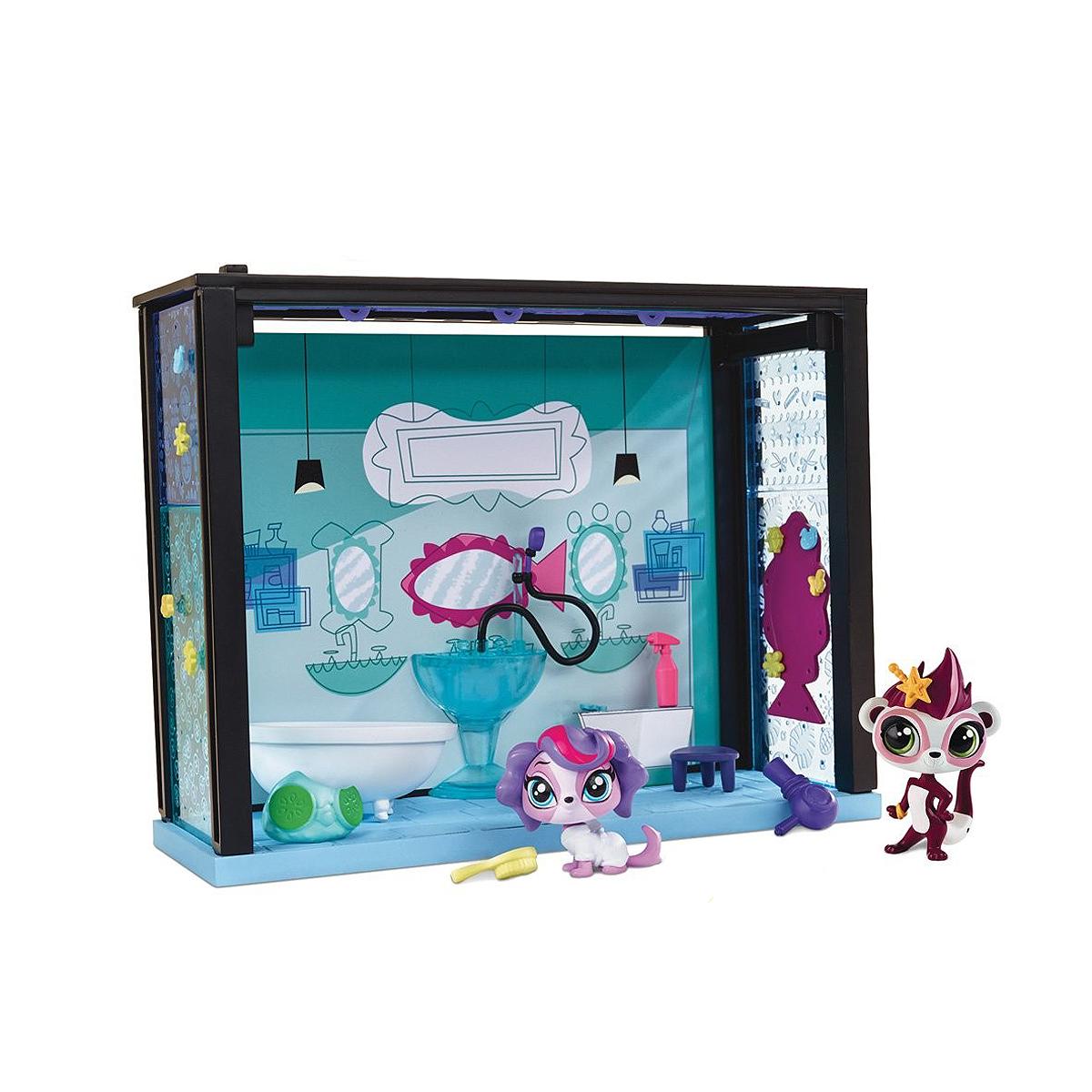 Littlest Pet Shop: Игровой мини-набор SpaA7641/F8542Игровой мини-набор Littlest Pet Shop Spa не оставит равнодушной вашу малышку! В этой прекрасной спа-комнате Зоя Трент приводит себя в порядок. Набор включает в себя элементы для сборки спа-комнаты, фигурку симпатичного зверька Зои Трент с большими глазками и подвижной головкой, а также аксессуары для игры. Играя с этим набором, ваша малышка прекрасно проведет время. Порадуйте ее таким замечательным подарком! В комплект входит одна фигурка.