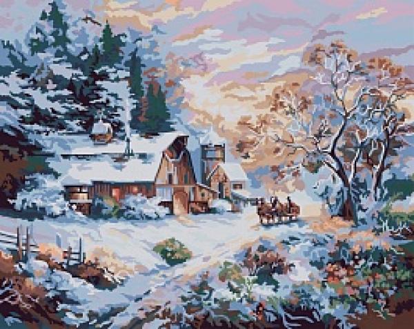 Набор для раскрашивания Plaid Снежный вечер, 50,8 х 40,64 см PLD-21783PLD-21783Набор для раскрашивания Plaid Снежный вечер поможет вам создать свой личный шедевр - красивую картину, нарисованную акриловыми красками. С таким набором очень легко самостоятельно написать потрясающую картину, даже если вы этого никогда не делали. С помощью инструкции закрашивайте фоновые области по цветовым номерам. Набор для раскрашивания прекрасно подойдет как для школьников, так и для взрослых. В набор входят: - акриловые краски (24 цвета), - фактурный картон с нанесенным контуром рисунка, - кисть, - инструкция на русском языке. Размер готовой картины: 50,8 см х 40,64 см.