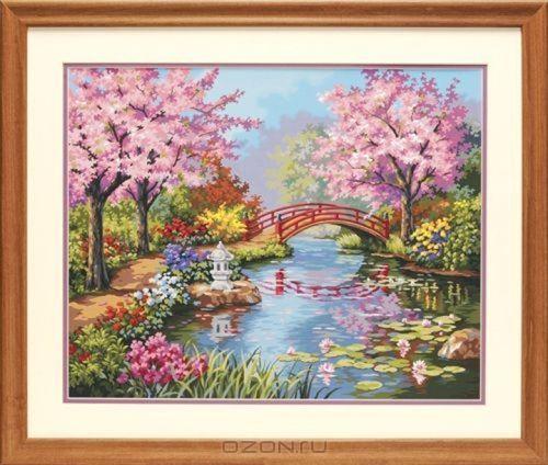 Набор для раскрашивания Paint Works Японский сад, 51 х 41 см DMS-91415DMS-91415Набор для раскрашивания Paint Works Японский сад поможет вам создать свой личный шедевр - красивую картину, нарисованную акриловыми красками. С таким набором очень легко самостоятельно написать потрясающую картину, даже если вы этого никогда не делали. С помощью инструкции закрашивайте фоновые области по цветовым номерам. Набор для раскрашивания прекрасно подойдет как для школьников, так и для взрослых. В набор входят: - акриловые краски (18 цветов), - фактурный картон с нанесенным контуром рисунка, - кисть, - инструкция на русском языке. Размер готовой картины: 51 см х 41 см. УВАЖАЕМЫЕ КЛИЕНТЫ! Обращаем ваше внимание, на тот факт, что рамка в комплект не входит, а служит для визуального восприятия товара.