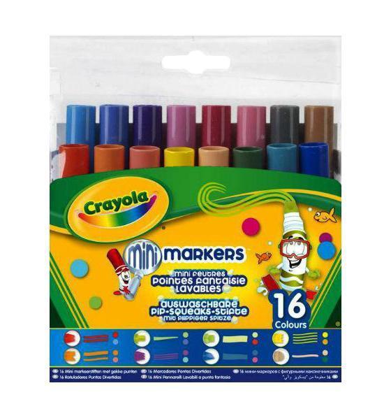 16 мини-фломастеров с узорными наконечниками58-870916 мини-фломастеров с узорными наконечниками – это то, что нужно любому юному художнику! Обладая шестнадцатью разными цветами, вы можете нарисовать и оформить что угодно. Тем более, что в наборе представлено 8 разных видов наконечников фломастеров – выводите по одной, две, три, четыре линии за раз, украшайте свой рисунок цветными многоугольниками, наклонными полосами и т.д.