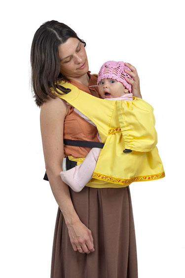 "Слинг-рюкзак Чудо-Чадо ""Дочкомобиль"", цвет: желтый СРД04-002"