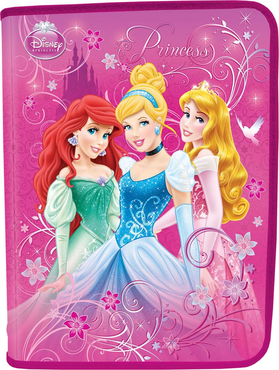 Папка для тетрадей Princess, цвет: розовый, голубой, зеленыйPRAB-US1-CPBFL
