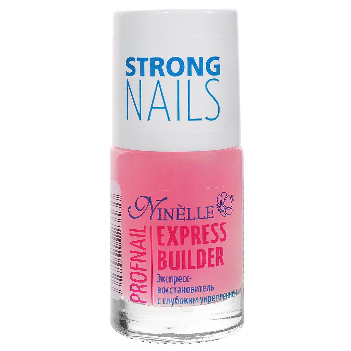 Ninelle Экспресс-восстановитель для ногтей Express Builder, с глубоким укреплением, 11 мл773N10482Средство сочетает эффективную механическую защиту с глубоким восстанавливающим действием. Лак моментально создает на поверхности ногтей защитный слой, который придает ногтям большую твердость и предохраняет их от расслаивания и ломкости. Товар сертифицирован.