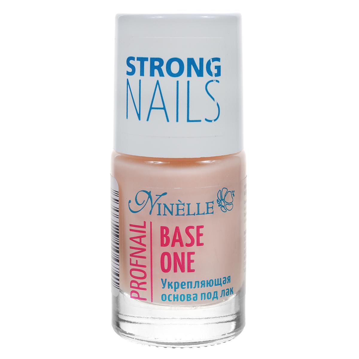 Ninelle Укрепляющая основа под лак Bace One, 11 мл765N10474Тонко сбалансированный состав с витаминами сделает Ваши ногти крепкими, здоровыми и естественными. При нанесении образуется тонкая, прозрачная пленка, которая выравнивает и сглаживает дефекты. Быстро сохнет, защищает ноготь от воздействия окружающей среды. Товар сертифицирован.