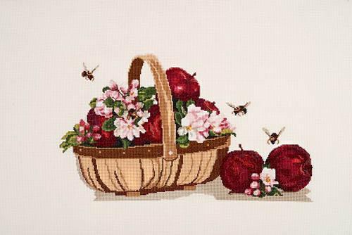 Набор для вышивания крестом Alisena Натюрморт с яблоками, 38 х 22 см Art-1151547176Набор для вышивания крестиком Alisena Натюрморт с яблоками поможет вам создать свой личный шедевр - красивую картину, вышитую нитками. В набор входит: - канва Aida №16 Zweigart цвета слоновой кости (100% хлопок), - мулине Anchor - разработано и закреплено на органайзере, - игла, - символьно-цветная схема, - инструкция на русском языке. Размер готовой работы: 38 см х 22 см (243 х 142 крестиков). Количество цветов: 38. Работа, выполненная своими руками, станет отличным подарком для друзей и близких!