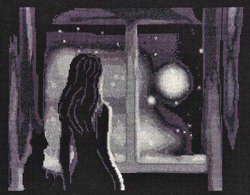 Набор для вышивания крестом Alisena Луна в окне, 30 см х 24 см. Art-1177547195Набор для вышивания крестиком Alisena Луна в окне поможет вам создать свой личный шедевр - красивую картину, вышитую нитками. В набор входит: - канва Aida №16 Zweigart черная (100% хлопок), - мулине Anchor - разработано и закреплено на органайзере, - игла, - символьно-цветная схема, - инструкция на русском языке. Размер готовой работы: 30 см х 24 см (200 х 155 крестиков). Количество цветов: 7. Работа, выполненная своими руками, станет отличным подарком для друзей и близких!