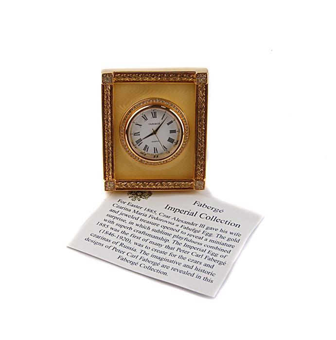 Часы Фаберже Екатерининский дворец. Металл, позолота 24 карата, эмаль гильош, австрийские кристаллы, швейцарский механизм. Фаберже, Франция, конец XX века
