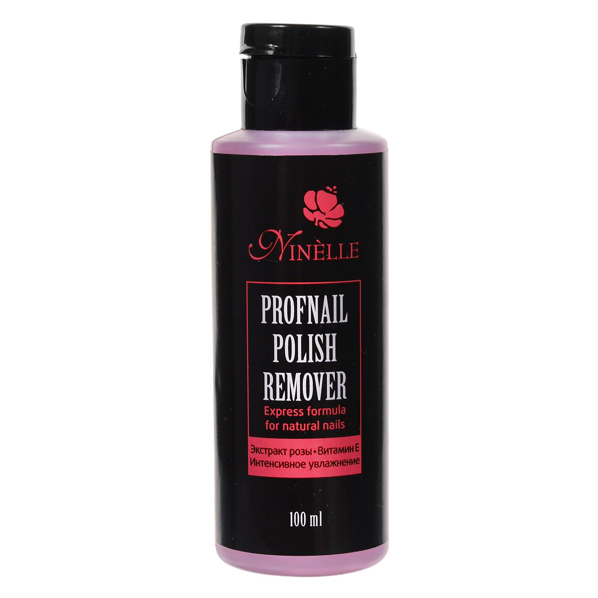Ninelle Жидкость для снятия лака Profnail, 100 мл733N10442Ninelle Жидкость для снятия лака Profnail быстро и эффективно удаляет лак с ногтевой пластины, обеспечивая интенсивное увлажнение и мягкий уход. Содержит витамин E и экстракт розы. Товар сертифицирован.