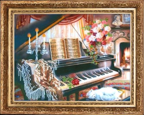 Набор для вышивания бисером Butterfly Соната ре минор, 26 см х 35 см545167Набор для вышивания бисером Соната ре минор поможет создать красивую вышитую картину. Рисунок-вышивка бисером, выполненный на ткани, выглядит красиво, стильно и модно. Вышивание отвлечет вас от повседневных забот и превратится в увлекательное занятие. Набор для вышивания содержит все необходимые материалы для вышивки бисером на ткани: - ткань с нанесенным полноцветным рисунком (47 см х 35,5 см); - бисер Preciosa Ornela № 10 (10 цветов); - игла для вышивания; - инструкция на русском языке. Работа, сделанная своими руками, не только украсит интерьер дома, придав ему уют и оригинальность, но и будет отличным подарком для друзей и близких.