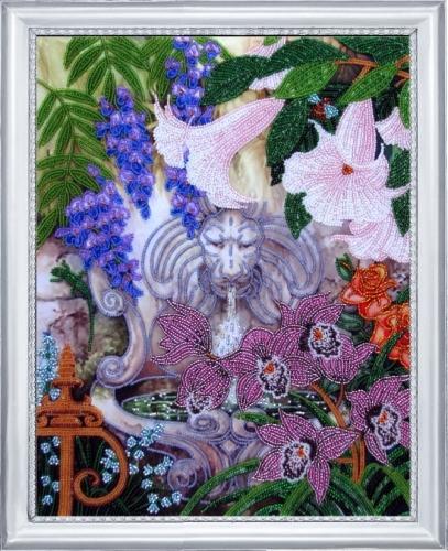 Набор для вышивания бисером Butterfly Фонтан в саду, 35 см х 27 см545169Набор для вышивания Butterfly Фонтан в саду поможет вам создать свой личный шедевр - красивую картину на атласной ткани, вышитую бисером. Вышивание отвлечет вас от повседневных забот и превратится в увлекательное занятие! Работа, сделанная своими руками, создаст особый уют и атмосферу в доме и долгие годы будет радовать вас и ваших близких, а подарок, выполненный собственноручно, станет самым ценным для друзей и знакомых. В набор входят: - ткань (атлас) с нанесенным рисунком, - бисер Preciosa Ornela №10 - 17 цветов (Чехия), - инструкция на русском языке, - игла бисерная. УВАЖАЕМЫЕ КЛИЕНТЫ! Обращаем ваше внимание, на тот факт, что рамка в комплект не входит, а служит для визуального восприятия товара.