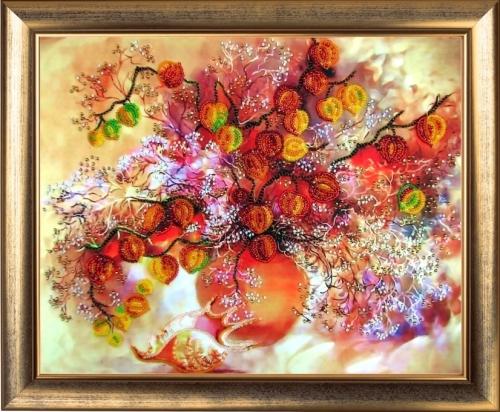 Набор для вышивания бисером Butterfly Осенние фонарики, 25 см х 32 см545171Красивый рисунок-вышивка бисером, выполненный на канве, выглядит оригинально и всегда модно. Работа, сделанная своими руками, создаст особый уют и атмосферу в доме и долгие годы будет радовать вас и ваших близких. Набор для вышивания содержит все необходимые материалы для вышивания бисером. В состав набора входит: - ткань с нанесенным полноцветным рисунком, - бисер Preciosa Ornela №10 (Чехия, 9 цветов), - инструкция, - игла для вышивания. Уважаемые клиенты! Рамка в комплект не входит.