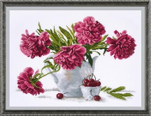Набор для вышивания крестом Чайный стиль, 39 х 30 см 546987 набор для вышивания крестом овен весна 21 х 23 см