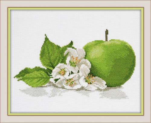 Набор для вышивания крестом Яблочный аромат, 25 х 15 см набор для вышивания крестом овен гламурка 25 х 25 см 562137