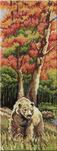 Набор для вышивания крестом Осенний пейзаж. Часть 1, 38 см х 15 см547475
