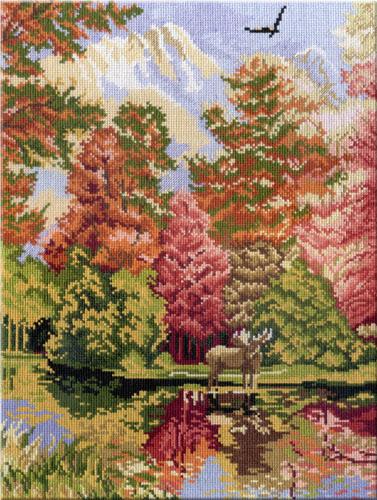 Набор для вышивания крестом Осенний пейзаж. Часть 2, 38 х 28 см547476Набор для вышивания Осенний пейзаж поможет вам создать свой личный шедевр - красивую картину, вышитую нитками мулине в технике счетный крест. Работа, выполненная своими руками, станет отличным подарком для друзей и близких! Набор содержит: - канва Aida 14 Gamma (белая) 100% хлопок, - нитки мулине х/б Gamma (24 цвета), - игла для вышивания, - цветная символьная схема, - инструкция на русском языке. Дизайнер: Татьяна Бервинова.