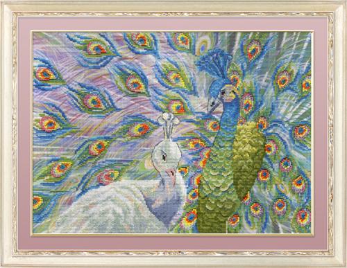 Набор для вышивания крестом Павлины, 25 х 35 см547482Набор для вышивания Павлины поможет вам создать свой личный шедевр - красивую картину, вышитую нитками мулине в технике счетный крест. Работа, выполненная своими руками, станет отличным подарком для друзей и близких! Набор содержит: - канва Aida 14 Gamma (белая) 100% хлопок, - нитки мулине х/б Gamma (20 цветов), - игла для вышивания, - цветная символьная схема, - инструкция на русском языке. Дизайнер: Татьяна Бервинова. УВАЖАЕМЫЕ КЛИЕНТЫ! Обращаем ваше внимание, на тот факт, что рамка в комплект не входит, а служит для визуального восприятия товара.