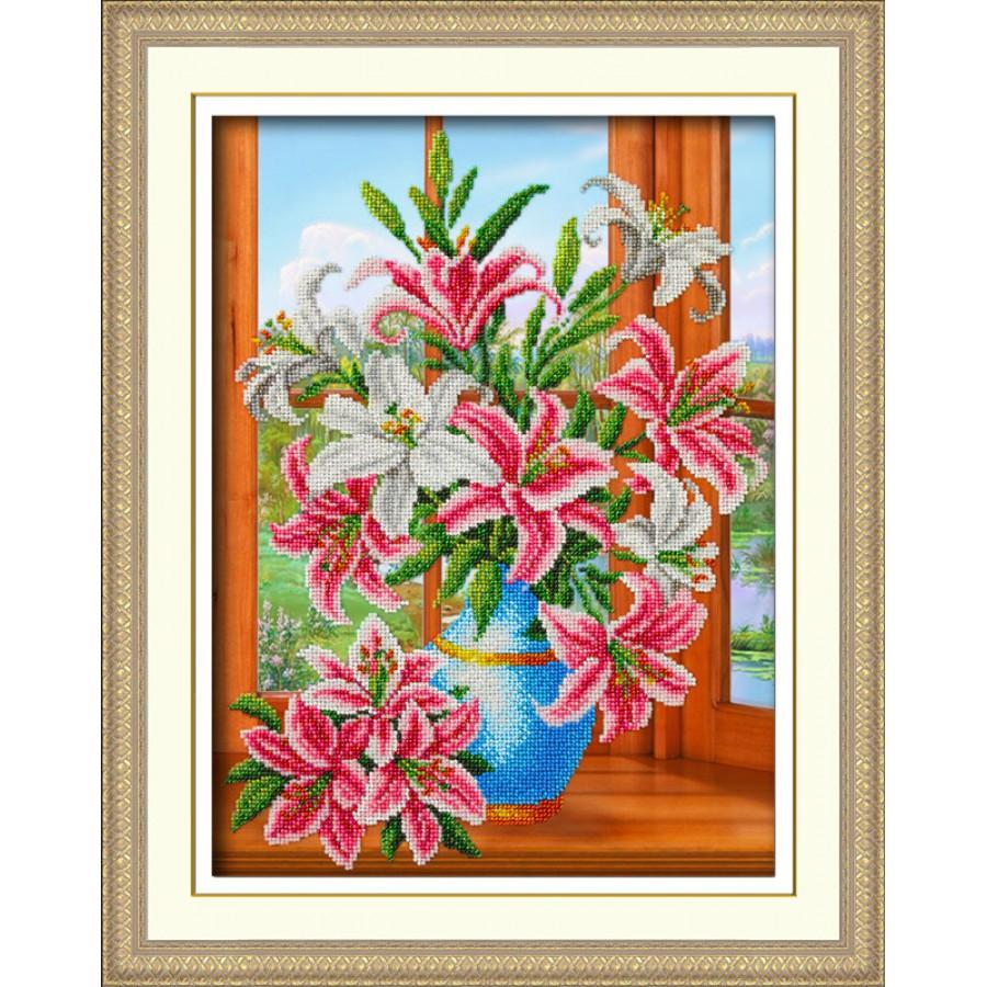Набор для вышивания бисером Букет лилий, 28 см х 38 см. 547375547375Набор для вышивания Букет лилий поможет вам создать свой личный шедевр - красивую картину, вышитую бисером. Работа, выполненная своими руками, станет отличным подарком для друзей и близких! Набор содержит: - ткань с нанесенным рисунком, - бисер - 18 цветов (Чехия), - игла, - инструкция на русском языке. Размер готовой работы: 28 см х 38 см. УВАЖАЕМЫЕ КЛИЕНТЫ! Обращаем ваше внимание, на тот факт, что рамка в комплект не входит, а служит для визуального восприятия товара.