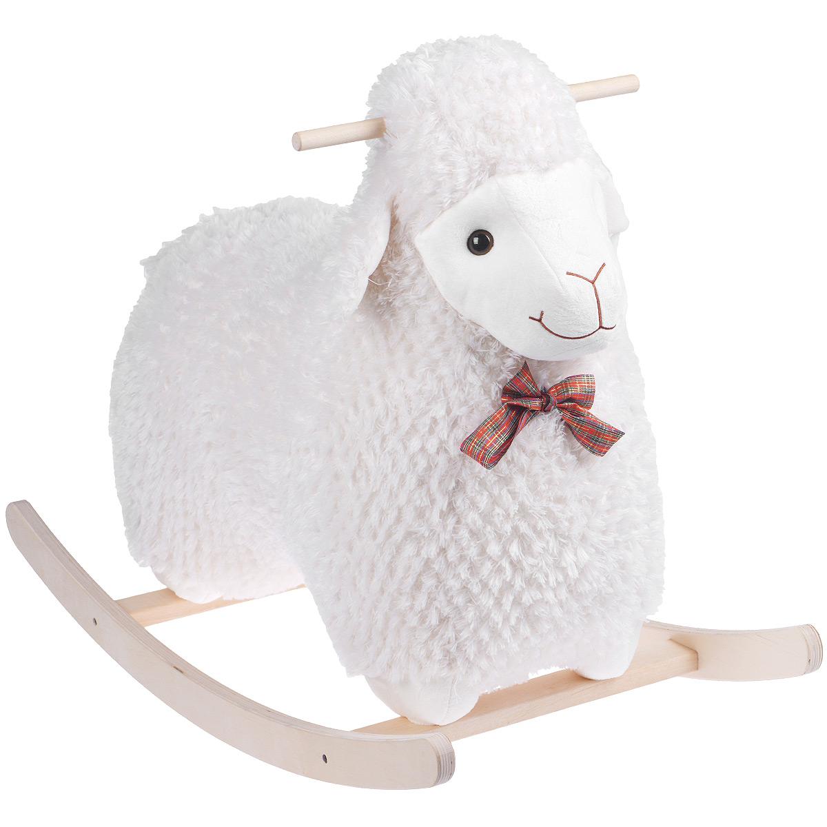 Качалка Fancy Овечка Долли, цвет: белыйKCHD2Забавная качалка Fancy Овечка Долли привлечет внимание малыша и не оставит его равнодушным. Она выполнена из приятного на ощупь текстильного материала в виде симпатичной овечки с пластиковыми глазками и вышитыми носиком и ротиком. На шее у овечки повязан яркий бантик. Полукруглое основание и ручки качалки выполнены из дерева. Такая игрушка может использоваться как дома, так и на открытом воздухе. Ваш малыш будет в восторге от такого подарка!