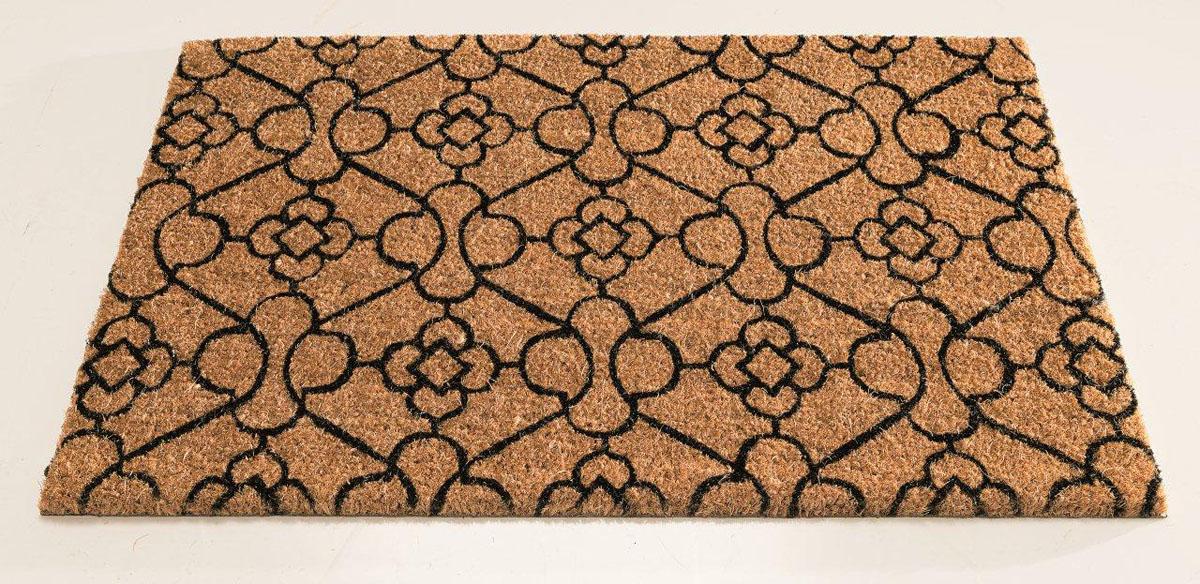 Коврик придверный Gardman Marrakech, 45 х 75 см82664Придверный коврик Gardman Marrakech, изготовленный из кокосового волокна с основой из ПВХ, оформлен красивыми узорами в восточном стиле. Имеет жесткий ворс. Устойчив к любым погодным условиям. Отличается прочностью, износоустойчивостью и долгим сроком службы. Идеально подходит для создания уюта.