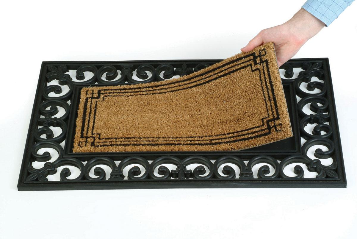 Основа для коврика Gardman, цвет: черный, 45 см х 75 см82450Основа для коврика Gardman выполнена из плотной и прочной резины. Устойчива к любым погодным условиям, отлично собирает пыль и грязь, обеспечивая чистоту в доме. Отличается прочностью и долгим сроком службы. Основа идеально подходит для ковриков-вставок Gardman. Коврик в комплект не входит.