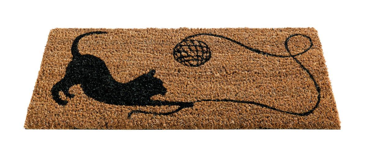 Коврик придверный Gardman Котенок, 23 см х 53 см82489Придверный коврик Gardman Котенок изготовлен из кокосового волокна с основой из ПВХ. Имеет жесткий ворс. Можно использовать отдельно либо с рамкой на резиновой основе для сменных ковриков. Устойчив к любым погодным условиям. Отличается прочностью и долгим сроком службы.