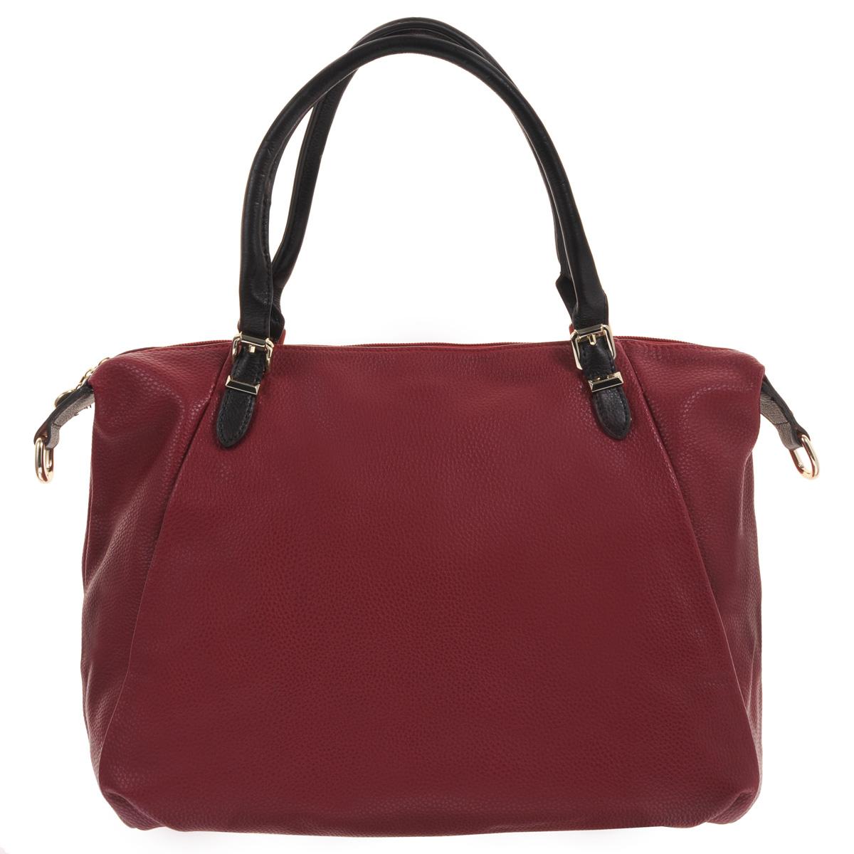Сумка женская Fancys Bag, цвет: красный. 2858-122858-12 красныйСтильная сумка Fancys Bag выполнена из искусственной кожи с фактурой, напоминающей натуральную. Сумка закрывается на застежку-молнию и содержит одно вместительное отделение, разделенное пополам средником на застежке-молнии. Внутри - два накладных кармашка для мобильного телефона и мелочей, а также вшитый карман на застежке-молнии. С внешней стороны на задней стенке расположен вшитый карман на застежке-молнии. Сумка оснащена двумя ручками для переноски и съемным плечевым регулируемым ремнем. В комплекте чехол для хранения. Яркая сумочка Fancys Bag подчеркнет вашу индивидуальность и сделает образ завершенным.