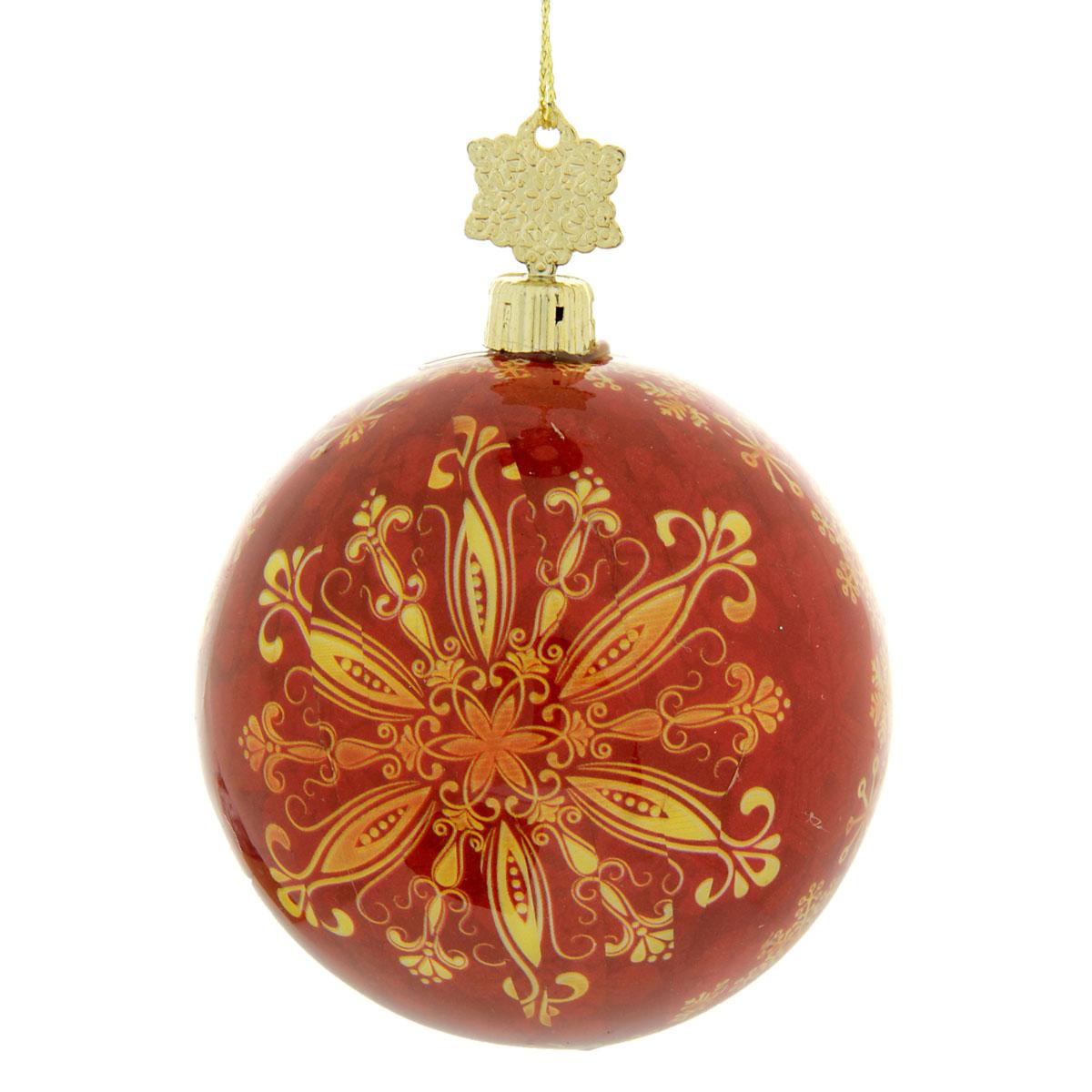 Новогоднее подвесное украшение Sima-land Шар, диаметр 8 см. 279339279339Новогоднее подвесное украшение Sima-land выполнено из высококачественного пенопласта в форме шара и покрыто цветной пленкой. Шар декорирован новогодним рисунком. С помощью специальной петельки украшение можно повесить в любом понравившемся вам месте. Но, конечно, удачнее всего такой набор будет смотреться на праздничной елке. Елочная игрушка - символ Нового года. Она несет в себе волшебство и красоту праздника. Создайте в своем доме атмосферу веселья и радости, украшая новогоднюю елку нарядными игрушками, которые будут из года в год накапливать теплоту воспоминаний. Материал: пенопласт, пленка, текстиль.