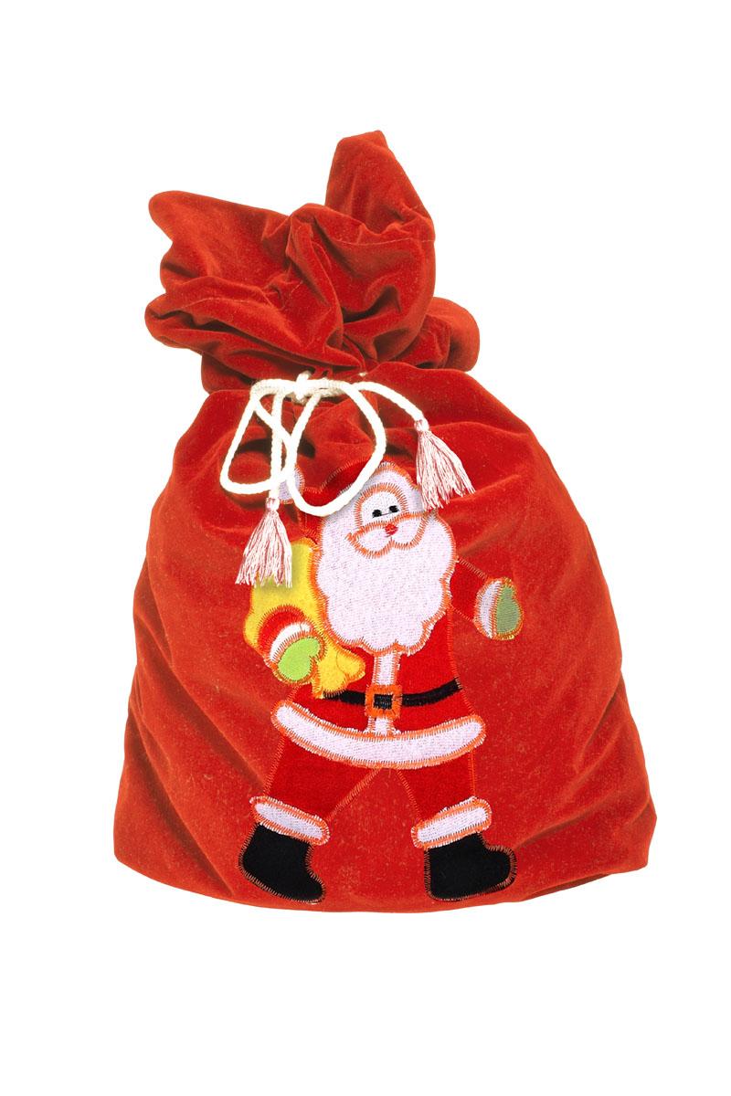 Карнавальный мешок Деда Мороза Sima-land Поздравление, цвет: красный, 60 х 95 см. 328629328629Размер мешка 60 х 95 см.
