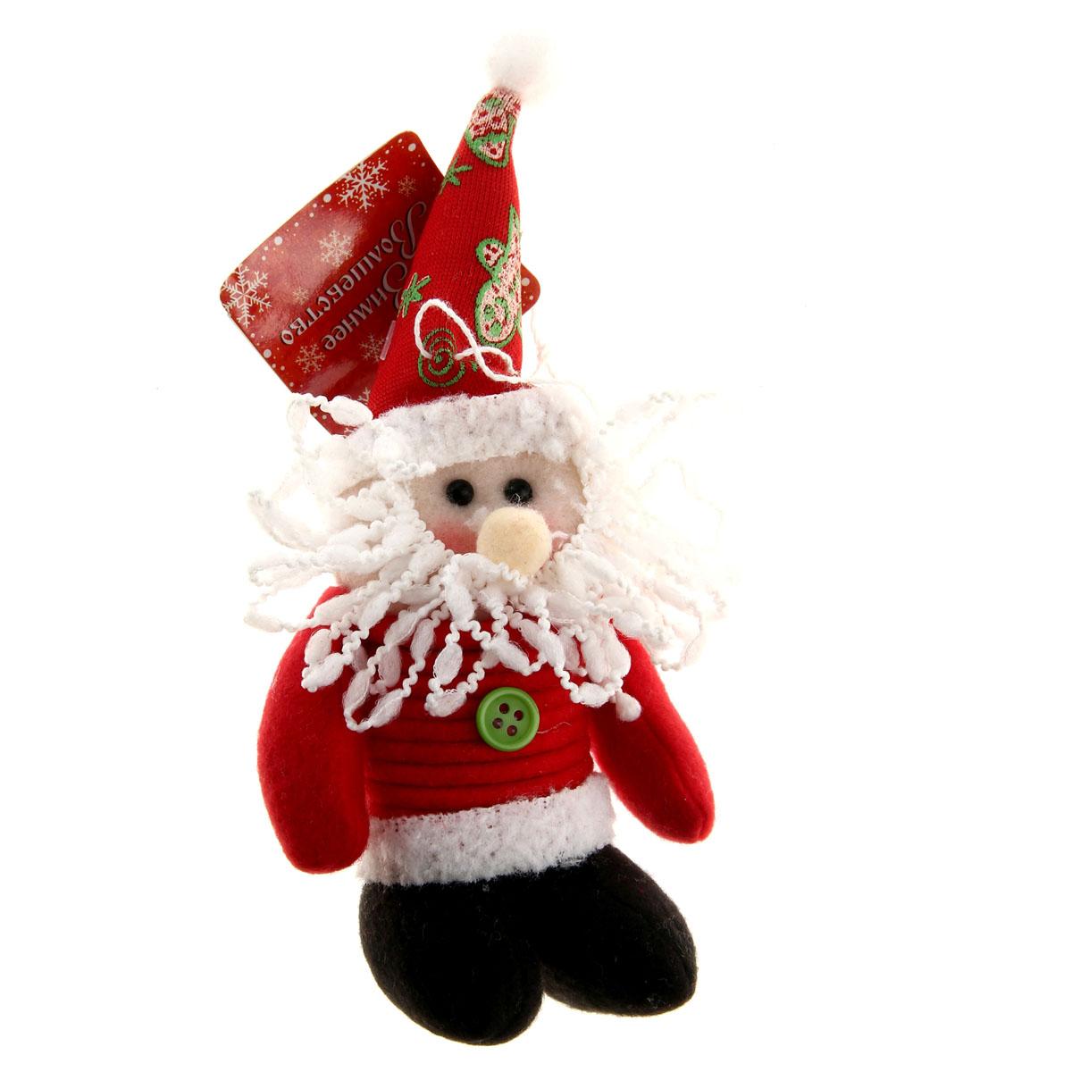 Новогоднее подвесное украшение Sima-land Дед Мороз, цвет: красный, 18 см х 8 см. 811676811676Новогоднее украшение Sima-land Дед Мороз прекрасно подойдет для праздничного декора вашего дома. Сувенир выполнен в виде текстильной фигурки Деда Мороза, тельце которого имеет вид пружинки. Изделие оснащено текстильной петелькой для подвешивания. Такая оригинальная фигурка оформит интерьер вашего дома или офиса в преддверии Нового года. Оригинальный дизайн и красочное исполнение создадут праздничное настроение. Кроме того, это отличный вариант подарка для ваших близких и друзей. Материал: пластик, текстиль.