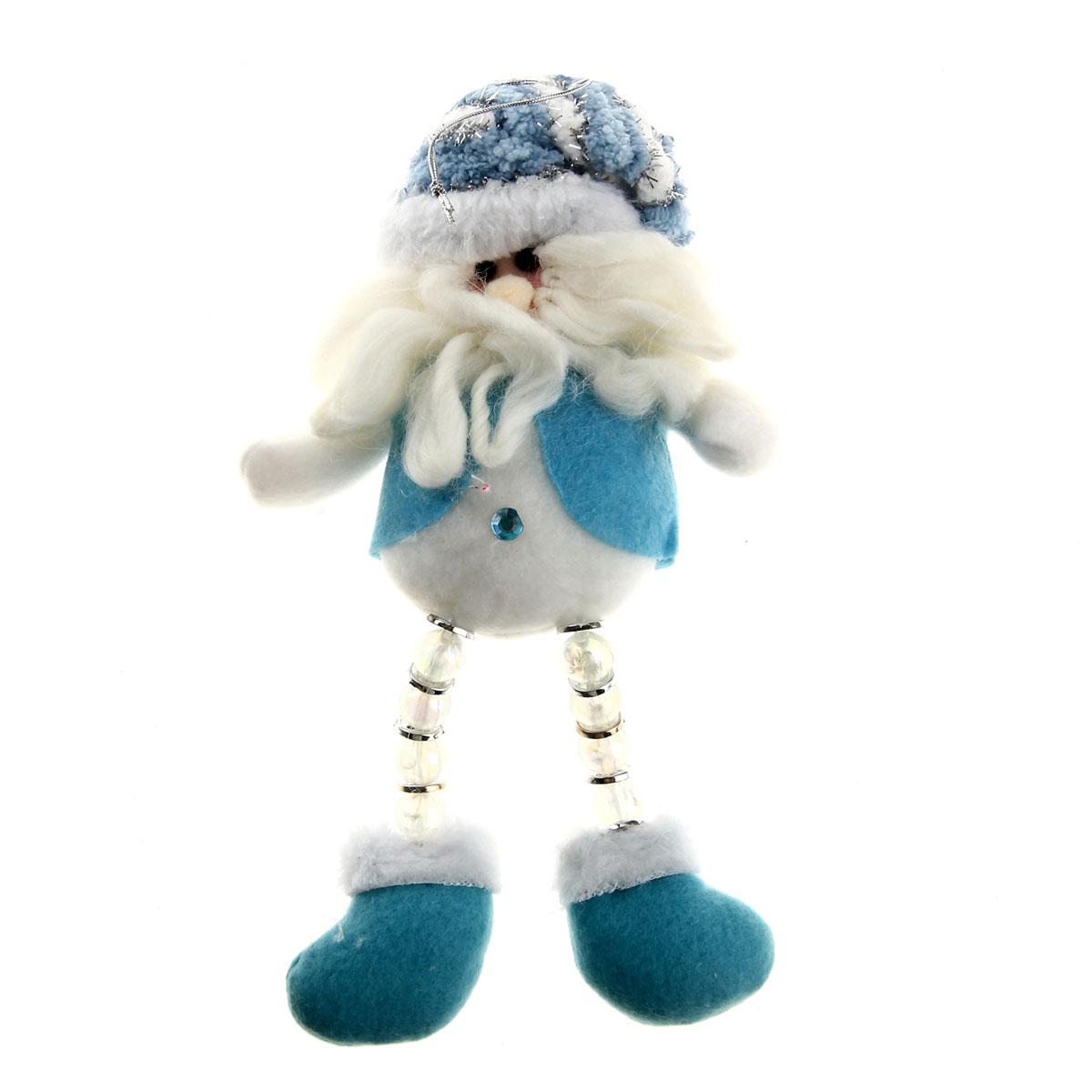 Новогоднее подвесное украшение Sima-land Дед Мороз, цвет: голубой. 811680811680Новогоднее украшение Sima-land Дед мороз отлично подойдет для декорации вашего дома и новогодней ели. Игрушка выполнена из текстиля в виде забавного Деда Мороза с длинными подвижными ногами из пластиковых пуговиц и бусин. Украшение оснащено специальной текстильной петелькой для подвешивания. Елочная игрушка - символ Нового года. Она несет в себе волшебство и красоту праздника. Создайте в своем доме атмосферу веселья и радости, украшая всей семьей новогоднюю елку нарядными игрушками, которые будут из года в год накапливать теплоту воспоминаний. Коллекция декоративных украшений из серии Зимнее волшебство принесет в ваш дом ни с чем не сравнимое ощущение праздника!