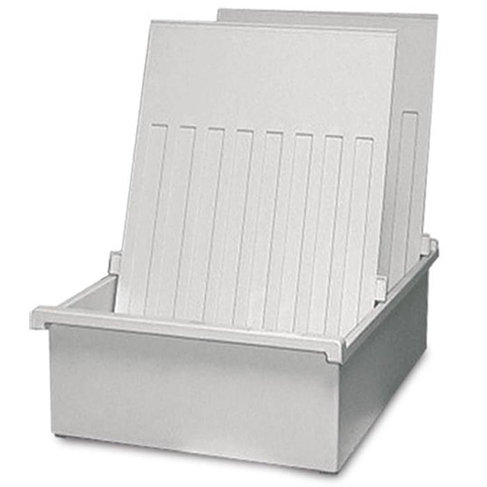 Лоток для бумаг горизонтальный HAN, цвет: светло-серый, формат А4. HA954-0/11HA954-0/11Горизонтальный лоток для бумаг HAN поможет вам навести порядок на столе и сэкономить пространство. Лоток подойдет для карточек формата А4 и меньше. Лоток состоит из 3 вместительных секций, и, благодаря оригинальному дизайну и классической форме, органично впишется в любой интерьер. В комплект входят 2 пластиковых съемных разделителя, всего лоток оснащен вырубками для 26 разделителей. Таким образом, можно изменять размер секций, что позволяет настроить лоток так, как будет удобно именно вам. Лоток изготовлен из антистатического ударопрочного пластика. Лоток имеет ножки, предотвращающие скольжение по столу и обеспечивающие необходимую устойчивость. Благодаря лотку для бумаг, важные бумаги и документы не потеряются и всегда будут под рукой.