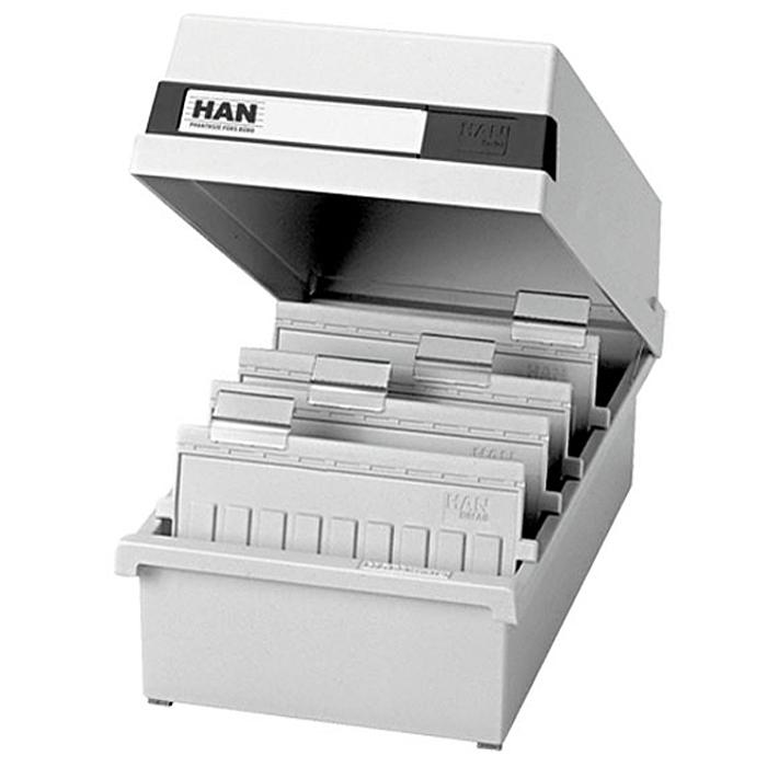 """Лоток для бумаг горизонтальный """"HAN"""", с крышкой, цвет: светло-серый, формат А6. HA956/11"""