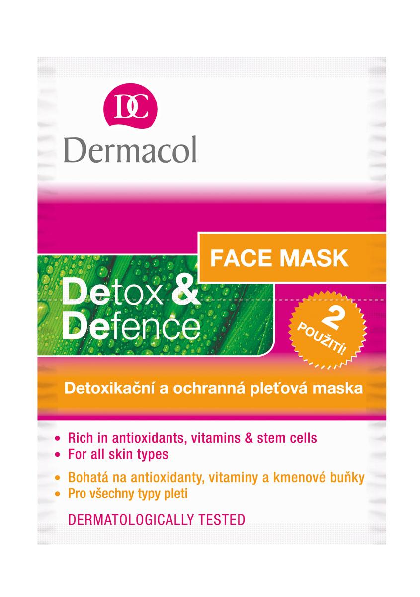Dermacol Маска для лица Detox & Defence, детоксикационная, защитная, 2х8 г5153Легкая гелево-кремовая текстура маски Detox & Defence богата природными антиоксидантами, витаминами и стволовыми клетками. Маска нейтрализует токсины из глубоких слоев кожи и восстанавливает поврежденные клетки. Укрепляет естественную защитную способность кожи. Товар сертифицирован.