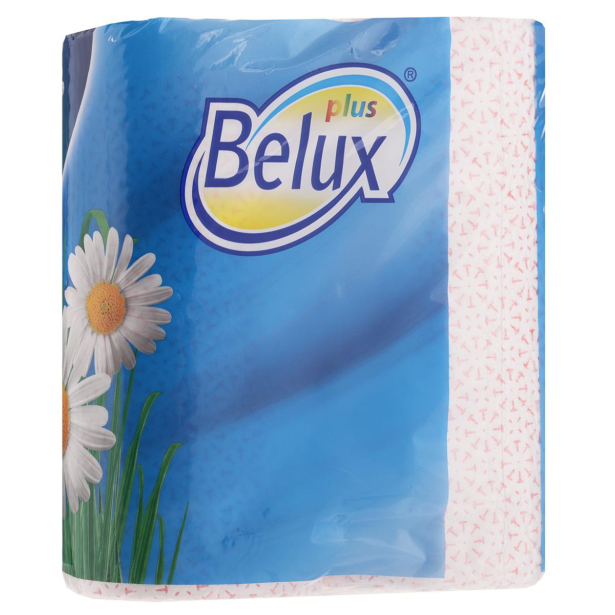 Полотенца кухонные бумажные Belux, двухслойные, цвет: белый, розовый, 2 рулона36298Кухонные бумажные полотенца Belux прекрасно подойдут для использования на кухне. В комплекте - 2 рулона двухслойных полотенец с тиснением. Полотенца мягкие, но в тоже время прочные, с отрывом по линии перфорации. Особенности полотенец: - не оставляют разводов на гладких и стеклянных поверхностях, - идеально впитывают влагу, - отлично впитывают жир, - подходят для ухода за домашними животными, бытовой техникой, автомобилем. Товар сертифицирован.