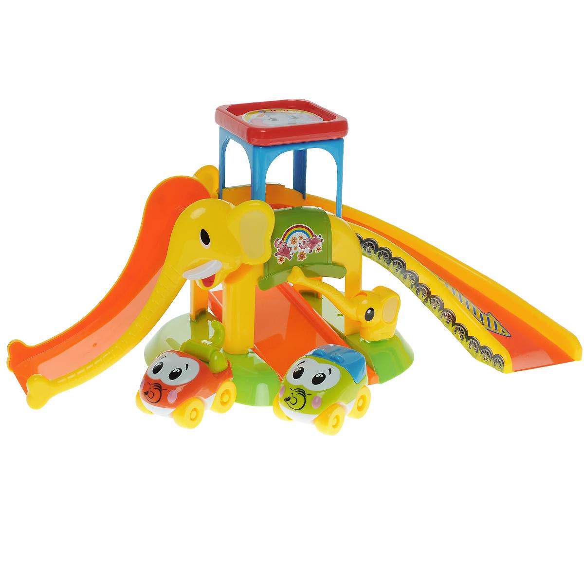 Игровой набор Fun For Kids Моя первая парковка23036Игровой набор Fun For Kids Моя первая парковка с веселыми глазастыми машинками будет отличным подарком для юного автомобилиста. С таким ярким и безопасным набором можно играть даже самым маленьким детям. Элементы выполнены из прочного безопасного пластика, не имеют острых углов, детали крупные. Набор включает в себя две симпатичные машинки и элементы, с помощью которых можно собрать необычную парковку с горками. Внизу парковки расположена платформа со шлагбаумом, который поднимается и опускается. Машинки, пропущенные шлагбаумом, можно поднять выше, чтобы они могли быстро съехать с горок. А на самой крыше парковки есть место для машинки, которая решила немного отдохнуть. Порадуйте своего ребенка таким замечательным подарком!