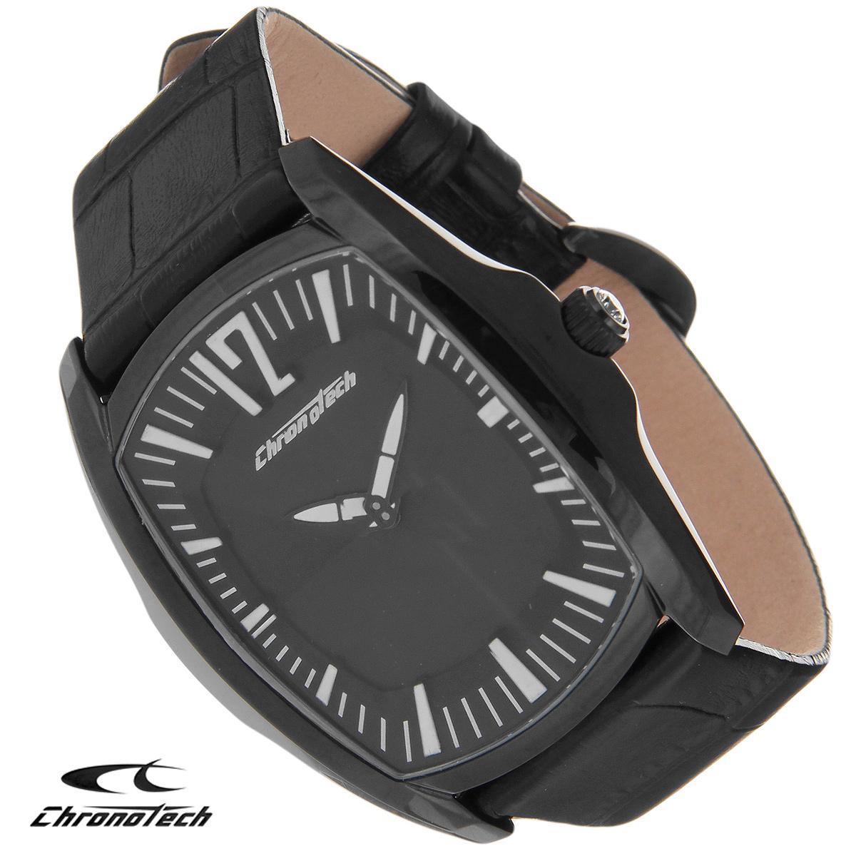 Часы мужские наручные Chronotech, цвет: черный. CT.7219M/03CT.7219M/03Часы Chronotech - это часы для современных и стильных людей, которые стремятся выделиться из толпы и подчеркнуть свою индивидуальность. Корпус часов выполнен из нержавеющей стали с PVD-покрытием. Циферблат оформлен отметками и защищен минеральным стеклом. Часы имеют две стрелки - часовую и минутную. Стрелки светятся в темноте. Ремешок часов выполнен из натуральной кожи и застегивается на классическую застежку. Часы упакованы в фирменную коробку с логотипом компании Chronotech. Такой аксессуар добавит вашему образу стиля и подчеркнет безупречный вкус своего владельца. Характеристики: Размер циферблата: 3 см х 4 см. Размер корпуса: 4 см х 5 см х 1 см. Длина ремешка (с корпусом): 23,5 см. Ширина ремешка: 2 см.
